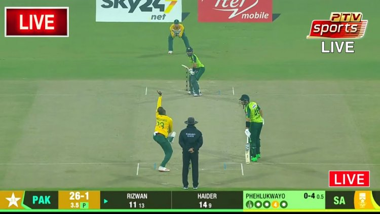 LIVE - Pakistan vs South Africa   2nd T20I 2021   PCB live streaming